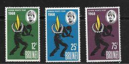 BRUNEI 1968 DROITS DE L'HOMME  YVERT N°146/48 NEUF MNH** - Brunei (...-1984)
