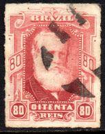 Brasil Império 40 D. Pedro Percé Barba Branca U (b) - Used Stamps