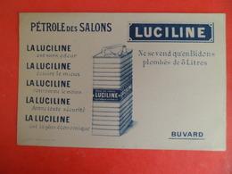 Buvard Publlicite LUCILINE PETROLE DES SALONS Ed. COURNON - 20,5 X 13 - Gas, Garage, Oil