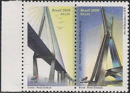 BRAZIL - BRIDGES, JOINT ISSUE BRAZIL/KOREA MNH - 2009 - Bridges