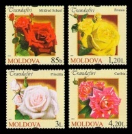 Moldova 2012 Mih. 805/08 Flora. Flowers. Roses MNH ** - Moldavie