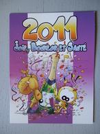JOLI PETIT CALENDRIER PUBLICITAIRE JOIE BONNE ANNEE ET SANTE / IMAGES ET CADEAUX MONTCEAU LES MINES / 2011 - Calendriers