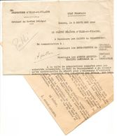 1942 Libération Des Prisonniers De Guerre ( ETAT FRANÇAIS ) Contre Main D'oeuvre Pour Les Usines Du REICH -35 - RENNES - Documents