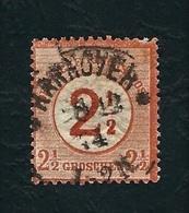 DEUTSCHES REICH 1872 - Grande Cifra Sull'aquila Centrale - 2½ Su 2½ G. Bruno Rosso - Michel DR 29 - Germania