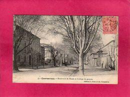 84 Vaucluse, Carpentras, Boulevard Du Musée Et Collège De Garçons, 1905, (J. Brun) - Carpentras