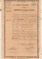 VP11.916 - MILITARIA - 1905 - ANGERS - Certificat De Bonne Conduite COUTON Au 135 ème Rgt D'Infanterie - Documents