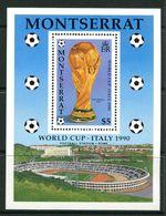 Montserrat 1990 Football World Cup, Italy MS MNH (SG MS832) - Montserrat