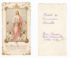 Denonville, Communion De Léone Chaussier, 1936, éd. H. Bonamy  N° 2034 - Images Religieuses