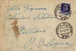 BUSTA POSTA MILITARE 91 1942 CASTELNUOVO CATTARO MONTENEGRO X GALLIERA - 1900-44 Vittorio Emanuele III