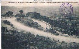 63 LE CHEMIN  DE  FER  DU PUY  DE  DOME  AU GRAND  TOURNANT  VUE PANORAMIQUE  SUR  CLERMONT  FERRAND   +TRAIN  TBE 1A321 - Clermont Ferrand