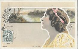 Portrait De Profil De Mlle Myrrthal, Style Art Nouveau - Reutlinger - Carte S.I.P. Dos Simple N° 898/9 - Artistes