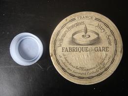 Boite Ancienne Carton VEILLEUSES FRANCAISES FABRIQUE LA GARE Vintage 7 Diamx2 Cm - Boxes