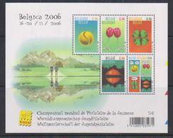 Belgie 2006 Belgie / Wereldkampioenschap Jeugdfilatelie M/s Blok ** Mnh (F6987) - Libretti 1962-....