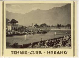 MERANO  TENNIS CLUB  CARTA DI PUBBLICITÀ - Merano