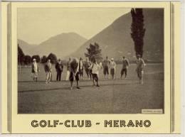MERANO  GOLF CLUB   CARTA DI PUBBLICITÀ - Merano