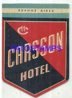 92051 ARGENTINA BUENOS AIRES CARSSON HOTEL LUGGAGE NO POSTAL POSTCARD - Hotel Labels