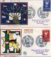 FRANCIA - 13 9 1958  2 FDC EUROPA - Europa-CEPT