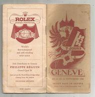Programme , Suisse , GENEVE , SEVEN DAYS IN GENEVA ,1948 , 30 Pages ,6 Scans, Publicité , Plan , Frais Fr 2.85e - Programmes