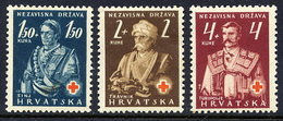 CROATIA 1941 Red Cross MNH / **.  Michel  66-68 - Croatia