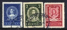 CROATIA 1943 Famous Croats Used.  Michel 103-05 - Croatia