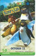 BD Cinéma SURF'S UP Movie Pingouin  -carte Thailande Call Card  (D 290) - Thaïlande