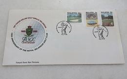 Malaysia FDC 100 Years The Royal Selangor Golf Club - Malaysia (1964-...)