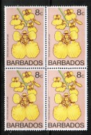 BARBADOS   Scott # 401** VF MINT NH BLOCK Of 4 - Barbados (1966-...)