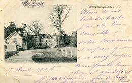 Auffargis Le Chateau Circulee En 1905 Carte Souple Avec Décollement - Auffargis