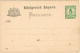 28139. Entero Postal BATERN, 5 Pf - Bavaria