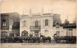 """Maison """"Rhum Du Marin"""" Départ Pour La Gare - Attelages (104085) - Advertising"""