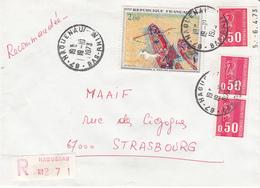 Env Reco Affr Y&T 1664 X 3 + 1733 Obl HAGUENAU Du 19.10.1973 Adressée à Strasbourg - Elsass-Lothringen