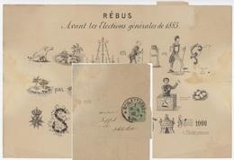 Schlettstadt 1 - Sélestat 25.9.1885  Rébus Avant Les Élections Générales De 1885 - Elsass-Lothringen