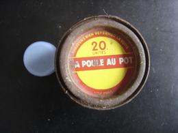 Boite Ancienne Fer Metal LA POULE AU POT 20 Unites 5,5 Diamx7 Cm - Boxes