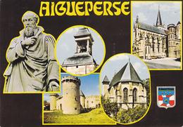 63 AIGUEPERSE / MULTIVUES L BLASON / STATUE MICHEL DE L' HOPITAL - Aigueperse