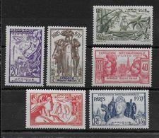 EXPO 37 - AEF - YVERT N°27/32 * CHARNIERE LEGERE - COTE = 24 EUROS - - 1937 Exposition Internationale De Paris