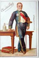PASTEUR PORTRAIT EN PIED DU GRAND SAVANT CHROMO ORIGINALE CHOCOLAT LOUIT  VERS 1890 - Trade Cards