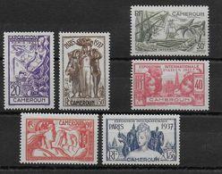 EXPO 37 - CAMEROUN - YVERT N°153/158 * CHARNIERE LEGERE - COTE = 11.6 EUROS - - 1937 Exposition Internationale De Paris