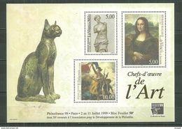 Bloc N°  23 PhilexFrance 1999 - Che F'oeuvre De L'art. Neuf - Ungebraucht
