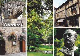 63 AMBERT / MULTIVUES / MONUMENT EMMANUEL CHABRIER / MONUMENT HENRI POURRAT - Ambert