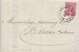 MÜHLHAUSEN - MULHOUSE (HAUT-RHIN) - LETTRE FACTURE DE 1884 - PIÉCE UNIQUE - Historische Documenten