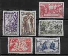 EXPO 37 - COTE DES SOMALIS - YVERT N°141/146 ** SANS CHARNIERE - COTE = 19.2 EUROS - - 1937 Exposition Internationale De Paris