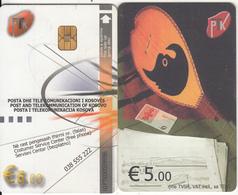 KOSOVO(chip) - PTK First Issue 5 Euro, Chip KOS2, Used - Kosovo