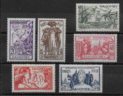 EXPO 37 - DAHOMEY - YVERT N°103/108 * CHARNIERE - COTE = 14.5 EUROS - - 1937 Exposition Internationale De Paris