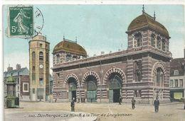 DUNKERQUE .2803. LE MINCK & LA TOUR DE LEUGHENAER . CARTE ANIMEE AFFR LE 27-8-1912 SUR RECTO - Dunkerque