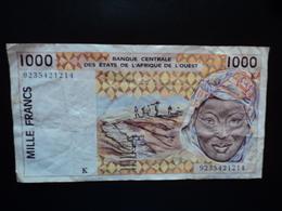 SÉNÉGAL : 1000 FRANCS  (19)92   P 711Kb *   TTB - Senegal