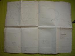 Plan Manuscrit 18ème Ou 19 ème De Chavigny Château Indre Et Loire ? - Planches & Plans Techniques