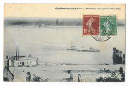 Cpa: 27 QUILLEBEUF SUR SEINE (ar. Bernay) Arrivée Du Bac  1920 - France