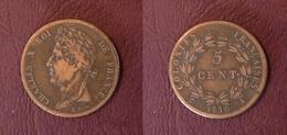 FRANCE - COLONIES - 5 CENT. Charles X Pour La Guyanne - 1830 A, Paris - Colonies