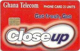 Ghana - Ghana Telecom - Close Up - 06.03, Axalto03, 25U, 800.000ex, Used - Ghana