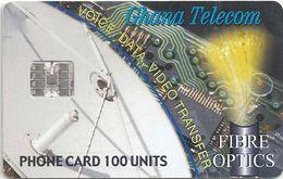 Ghana - Ghana Telecom - Fibre Optics - 03.01, SC7, 100U, 40.000ex, Used - Ghana